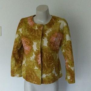 Talbots floral swing cut jacket